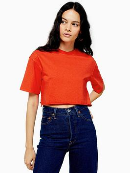 topshop-topshop-washed-crop-t-shirt-red