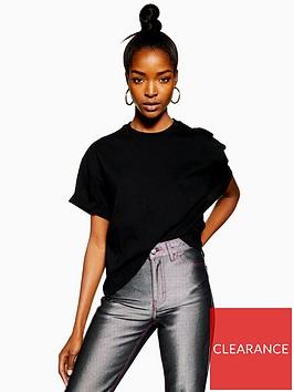topshop-topshop-boxy-roll-t-shirt-black