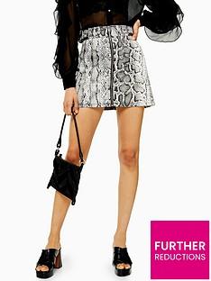 topshop-snake-print-denim-skirt-monochrome