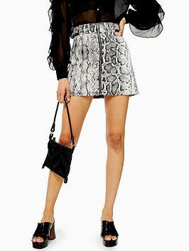 topshop-topshop-snake-print-denim-skirt-monochrome