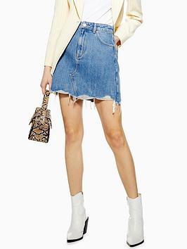 topshop-raw-edge-denim-skirt-blue