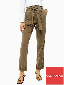 topshop-topshop-belted-utility-trousers-khaki