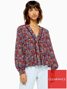 topshop-ditsy-ladder-trim-blouse-multi