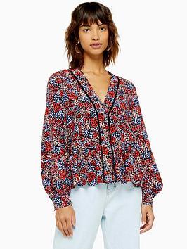 topshop-ditsy-ladder-trim-blouse-multi