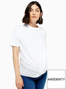 topshop-maternity-twist-front-tee