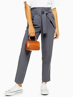 topshop-stitch-belted-peg-trousers-grey