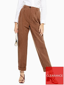 topshop-pleated-high-waist-trousers-taupe