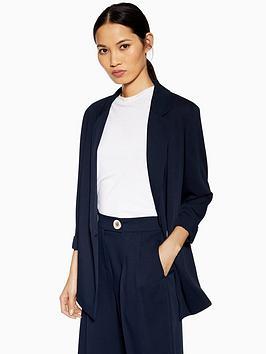 topshop-topshop-single-breasted-jacket-navy