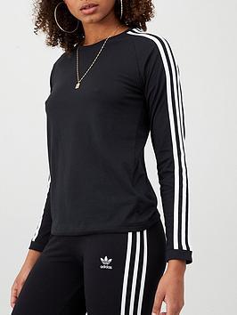 adidas-3-stripe-long-sleeve-top-blacknbsp