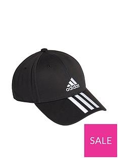 adidas-3-stripe-cap-black