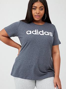 adidas-essential-linear-tee-curve-dark-grey-heather