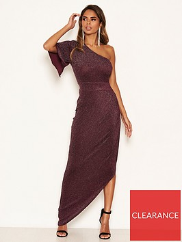 ax-paris-sparkle-one-shoulder-dress-plum