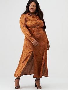 ax-paris-curve-satin-printed-maxi-shirt-dress-rust