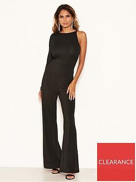 ax-paris-sparkle-one-sleeved-jumpsuit-blacknbsp