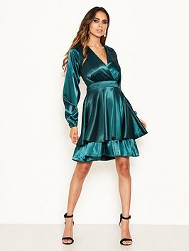 ax-paris-long-sleeved-satin-dress-greennbsp