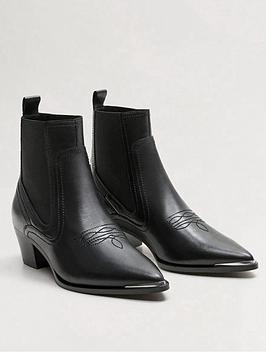 mango-leather-western-ankle-boot