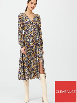 v-by-very-floral-midaxi-button-through-dress-print