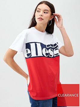 ellesse-unes-t-shirt-whiterednbsp
