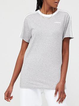 adidas-3-stripe-essentials-boyfriend-tee-mediumnbspgrey-heather