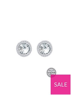 the-love-silver-collection-sterling-silver-swarovski-crystal-halo-stud-earrings