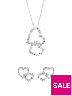 the-love-silver-collection-sterling-silver-cubic-zirconia-heart-stud-earrings-and-pendant-set