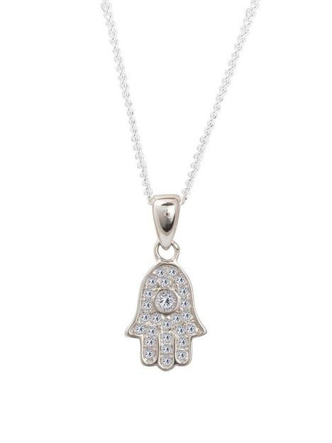 the-love-silver-collection-sterling-silver-cubic-zirconia-hamsa-hand-of-fatima-pendant-necklace