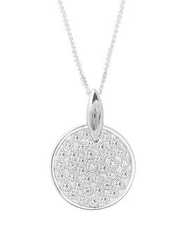 the-love-silver-collection-sterling-silver-pave-crystal-set-pendant-necklace