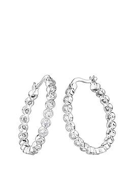 the-love-silver-collection-sterling-silver-cubic-zirconia-25mm-creole-hoop-earrings