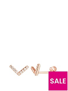 love-gold-9ct-rose-gold-cubic-zirconia-chevron-stud-earrings