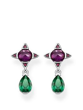 thomas-sabo-magic-stones-purple-green-stone-droplet-earrings