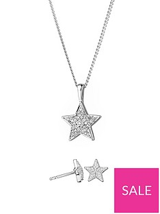love-diamond-sterling-silver-diamond-set-star-stud-earrings-and-pendant-necklace