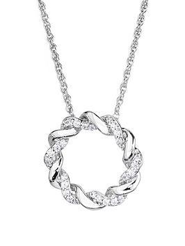 love-diamond-sterling-silver-21pt-diamond-twist-circle-pendant-necklace