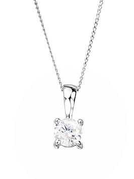 love-diamond-9ct-white-gold-15pt-diamond-solitaire-pendant-necklace