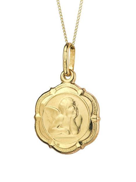 love-gold-9ct-gold-cherub-pendant-necklace