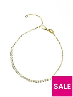 the-love-silver-collection-gold-plated-sterling-silver-cubic-zirconia-adjustable-bracelet