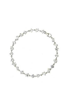 the-love-silver-collection-sterling-silver-cubic-zirconia-mixed-cut-bracelet