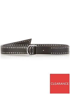 allsaints-studded-pull-through-belt-black