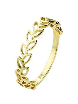 love-gold-9ct-gold-delicate-leaf-ring