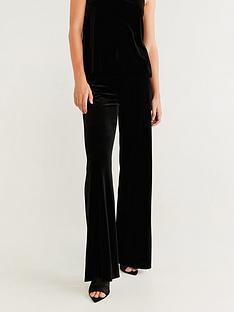 mango-velvet-wide-leg-trouser-black