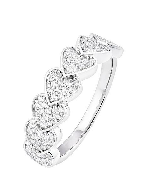 the-love-silver-collection-sterling-silver-cubic-zirconia-pave-heart-ring
