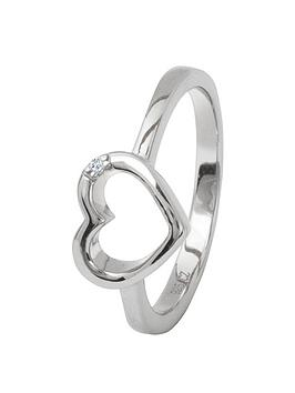 the-love-silver-collection-sterling-silver-cubic-zirconia-cut-out-heart-ring