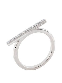 the-love-silver-collection-sterling-silver-cubic-zirconia-bar-ring