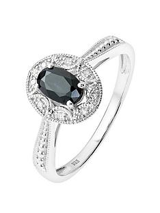 love-gem-sterling-silver-diamond-set-oval-black-sapphire-vintage-inspired-ring