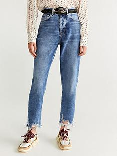 mango-distressed-hem-jeans