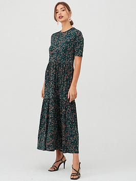 v-by-very-printed-tiered-midaxi-dress-green