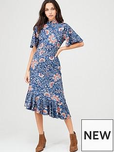 v-by-very-flute-sleeve-midi-jersey-dress-paisley