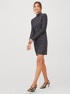 v-by-very-rainbow-stripe-sparkle-dress-black