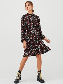 v-by-very-high-neck-printed-dress-floral