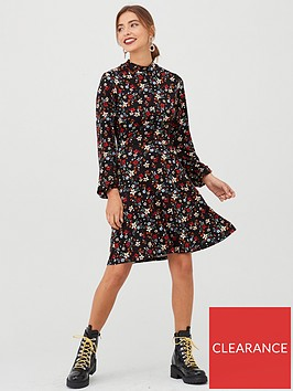 v-by-very-high-neck-printed-dress-floral