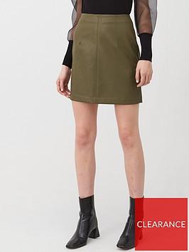 v-by-very-faux-leather-mini-skirt-khaki